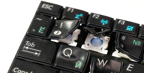 Melting Computer Keyboard