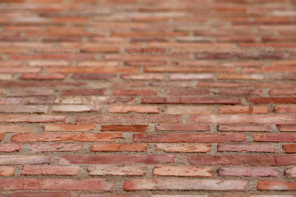 Background of brick wall texture - Stock Photo - Images