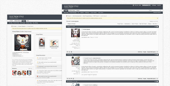 ThemeForest Electron vBulletin Forum Skin 2618465