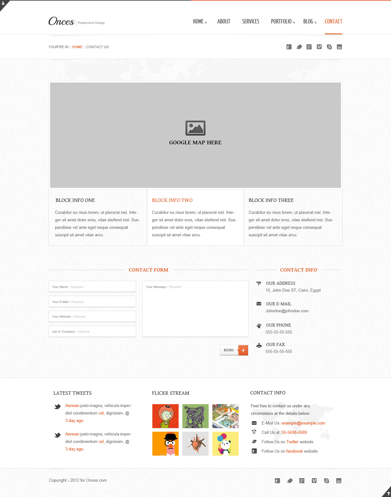 Onces: Modern and Clean responsive xhtml template