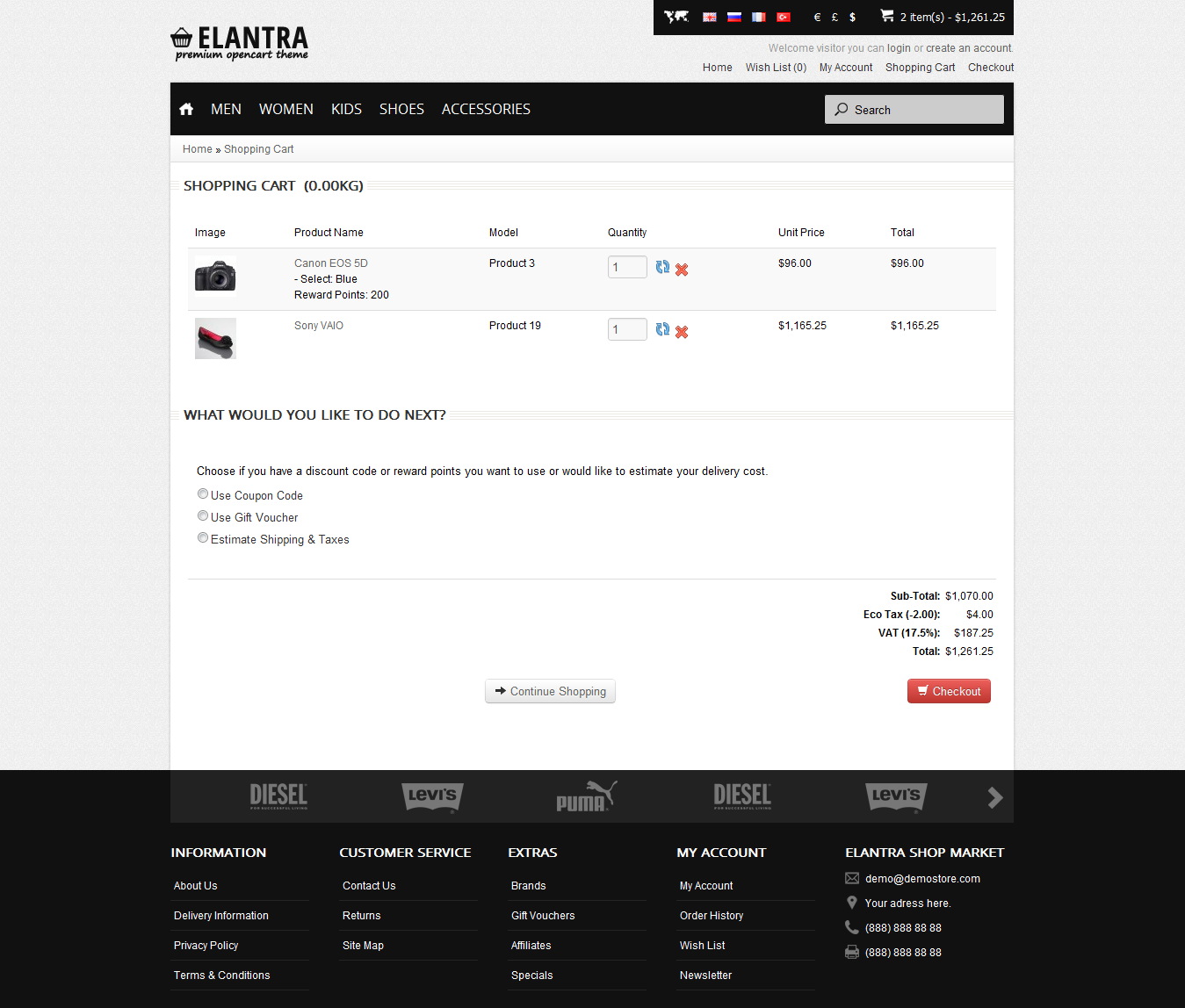Elantra - Premium Responsive OpenCart Theme