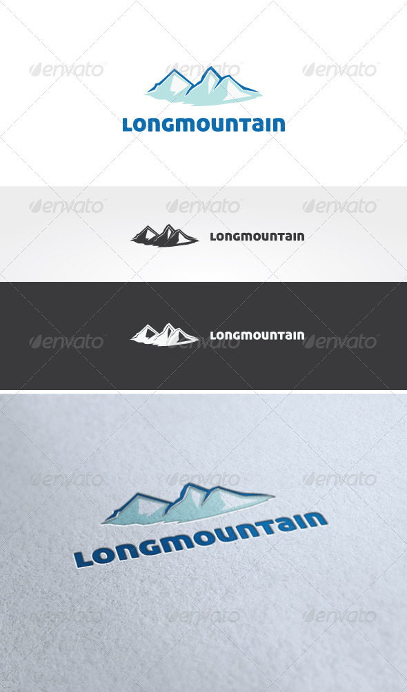 Long Mountain Logo Template - Nature Logo Templates