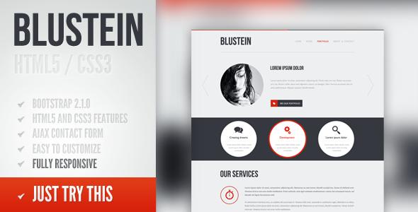 ThemeForest Blustein responsive HTML5 portfolio template 2906356