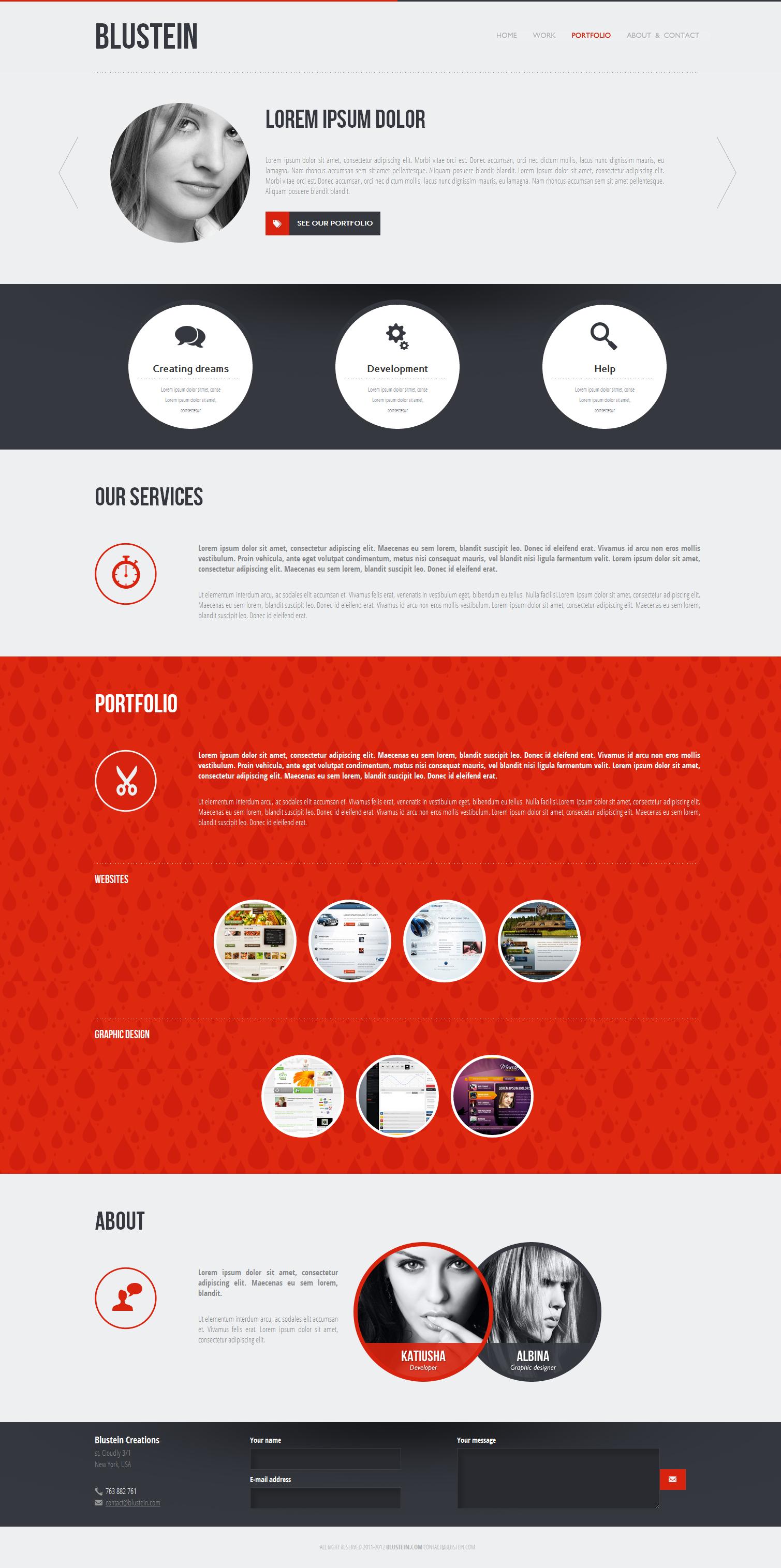 Blustein - responsive HTML5 portfolio template