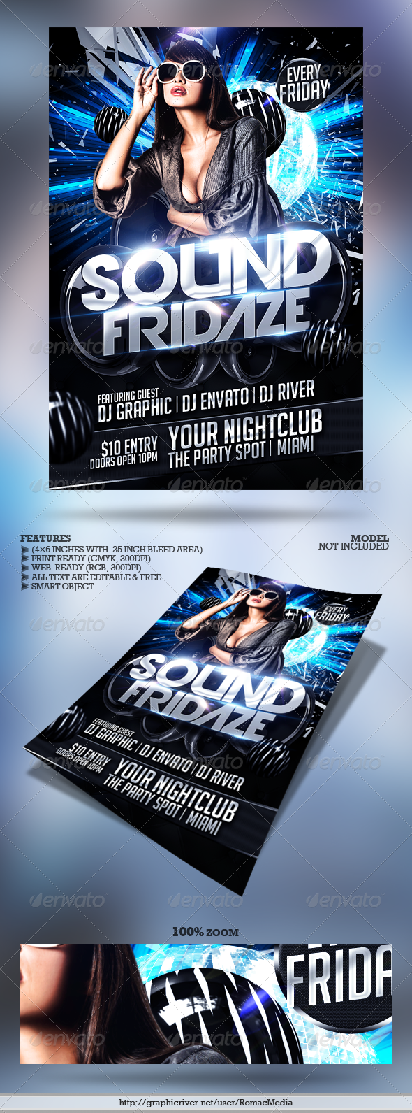 Club Sessions l Big Sound Party Flyer - Clubs & Parties Events