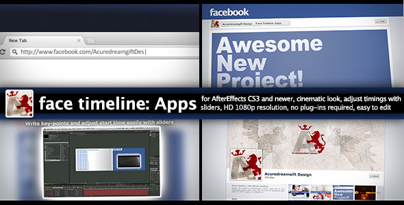 After Effects Project - VideoHive Face Timeline Apps 2906632