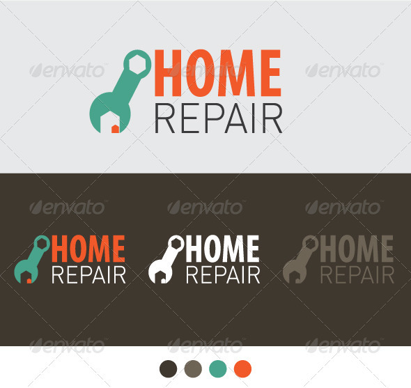 Home Repair - Buildings Logo Templates