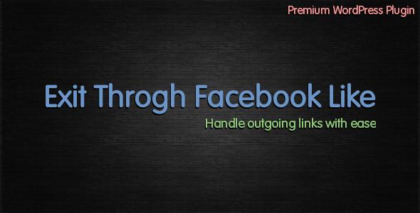 CodeCanyon Exit Through Facebook Like 1951557