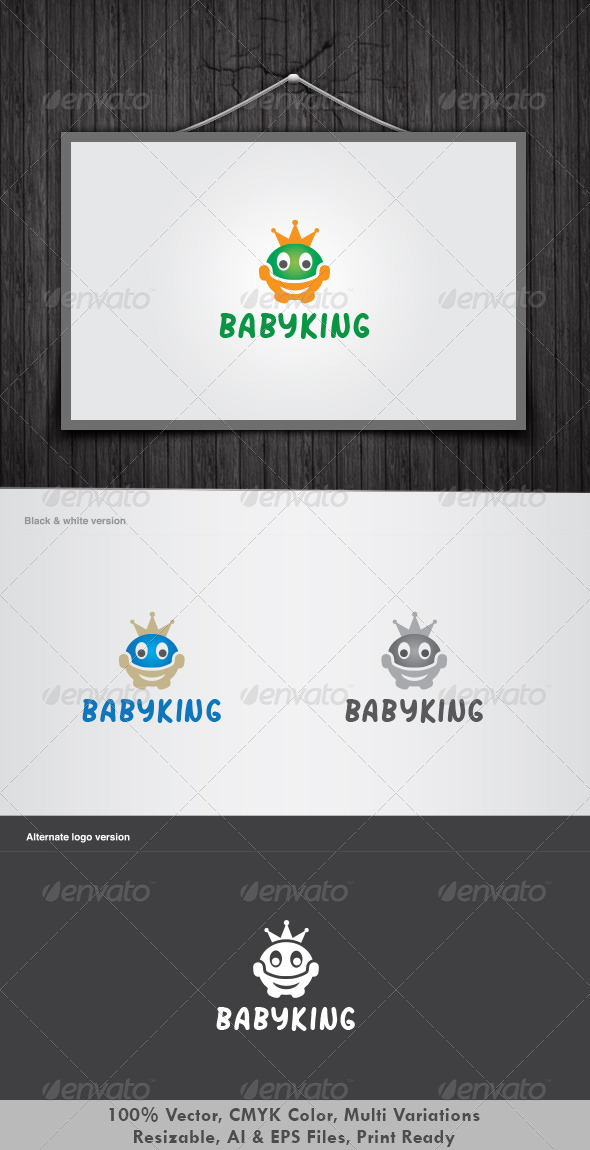 Baby King Logo - Humans Logo Templates