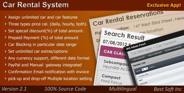 Online  Car Rental System