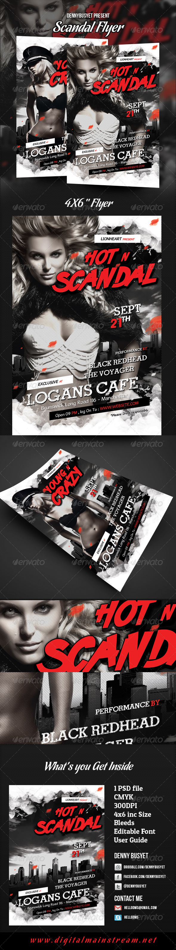 GraphicRiver Scandal Flyer Template 2907518