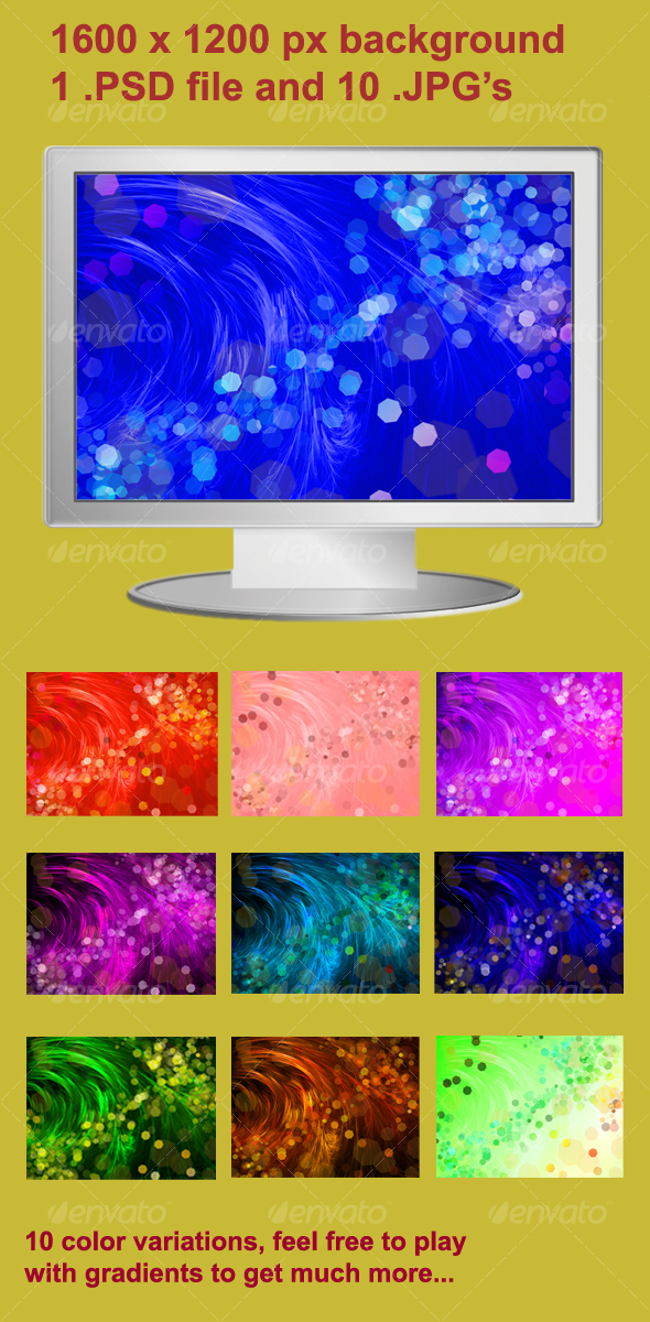 Abstract hair background