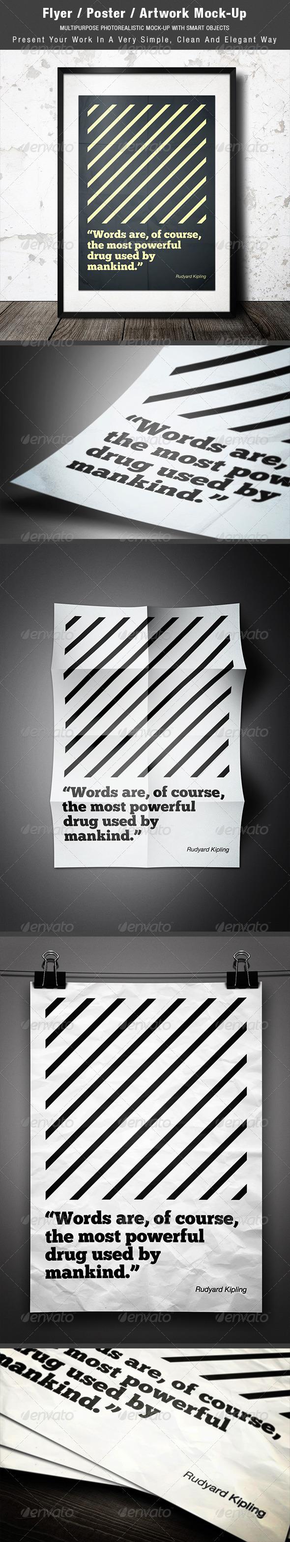 GraphicRiver Flyer Poster Artwork Mock-up 2907597