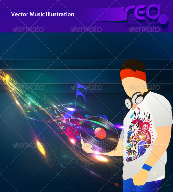 Dj Party Vector Template Design - Backgrounds Decorative
