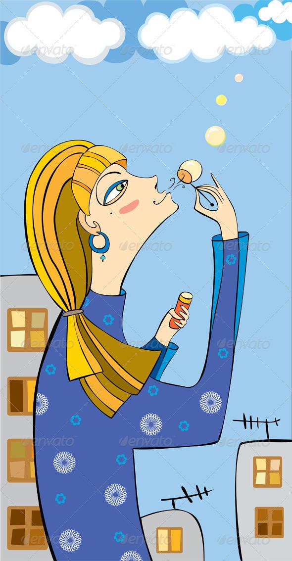 Girl Town Soap Bubbles
