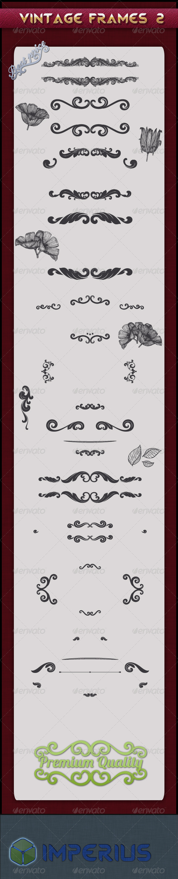 Vintage Frames 2 - Decorative Vectors