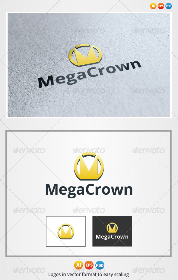 Mega Crown - Symbols Logo Templates