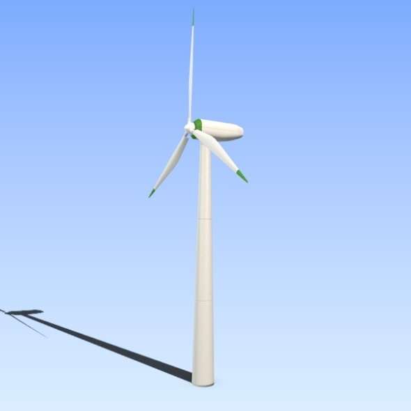 Wind eco turbine - 3DOcean Item for Sale