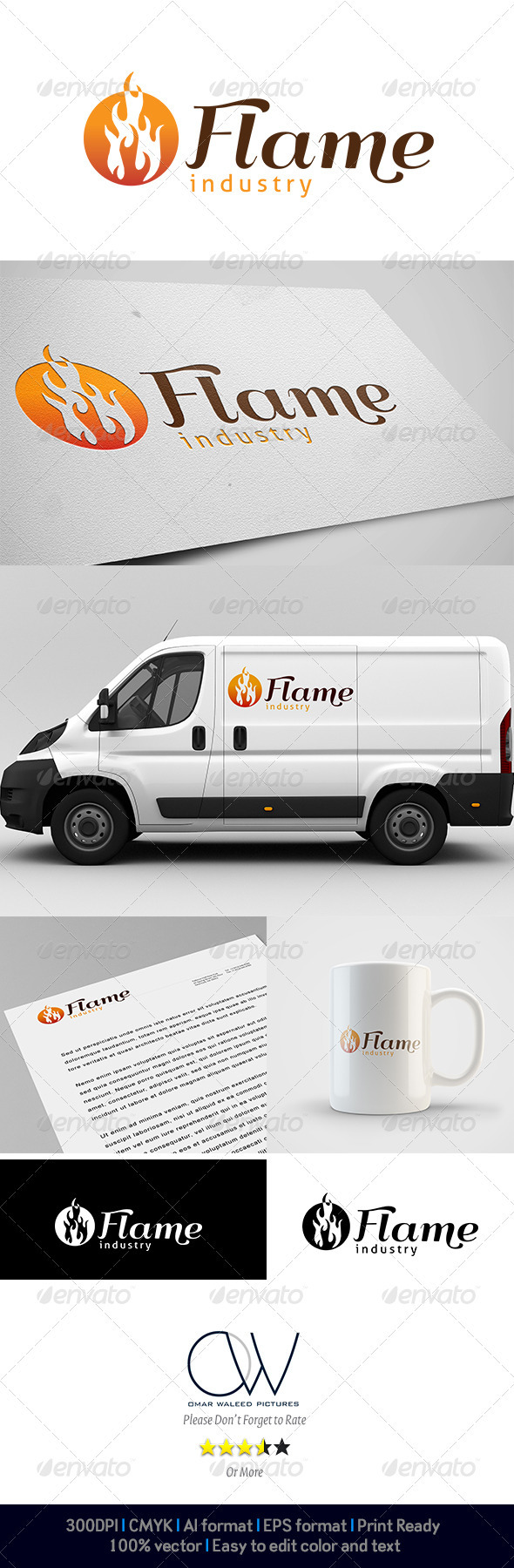 Flame Industry Logo - Abstract Logo Templates
