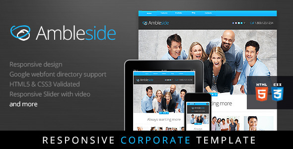 ThemeForest Ambleside Premium Responsive HTML5 Template 2908071