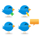 Set of 4 Twitter Icons