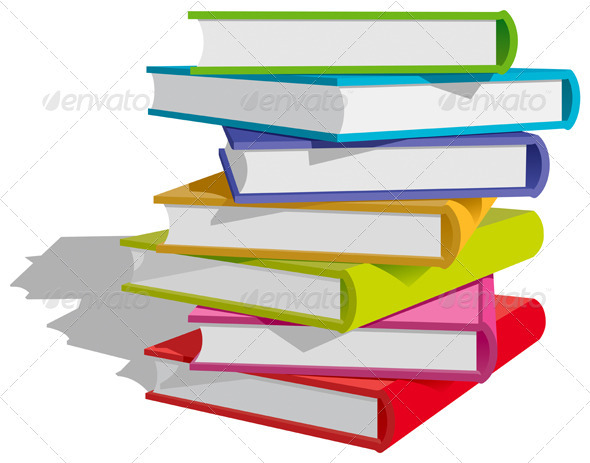 Books Stack  - Miscellaneous Vectors