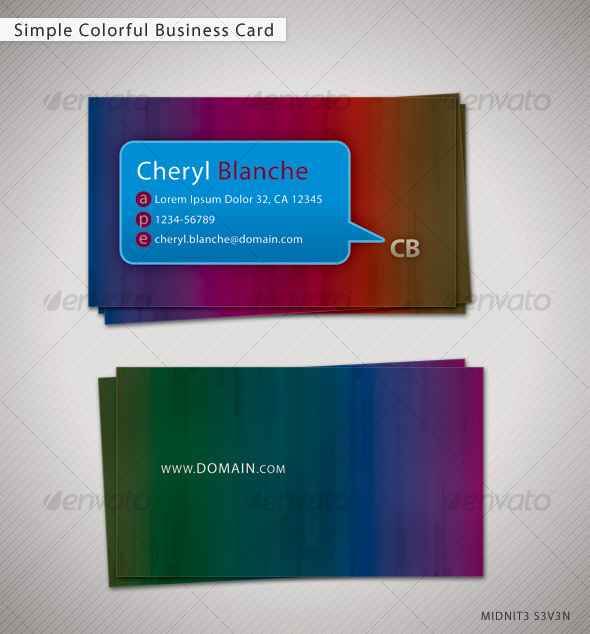 Simple Colorful Business Card