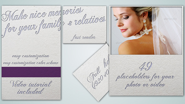 After Effects Project - VideoHive Wedding Photo Album 2876450