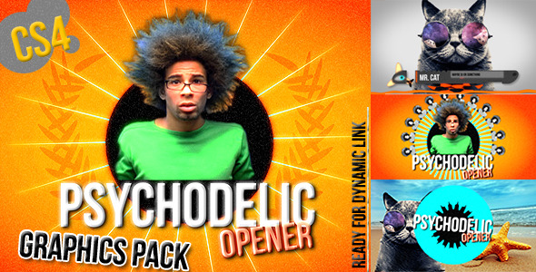 VideoHive Graphics Package Psychedelic Opener 2909321