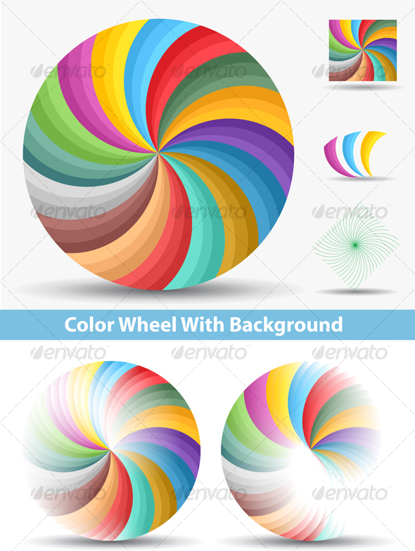 GraphicRiver Color Wheel With Background 104325