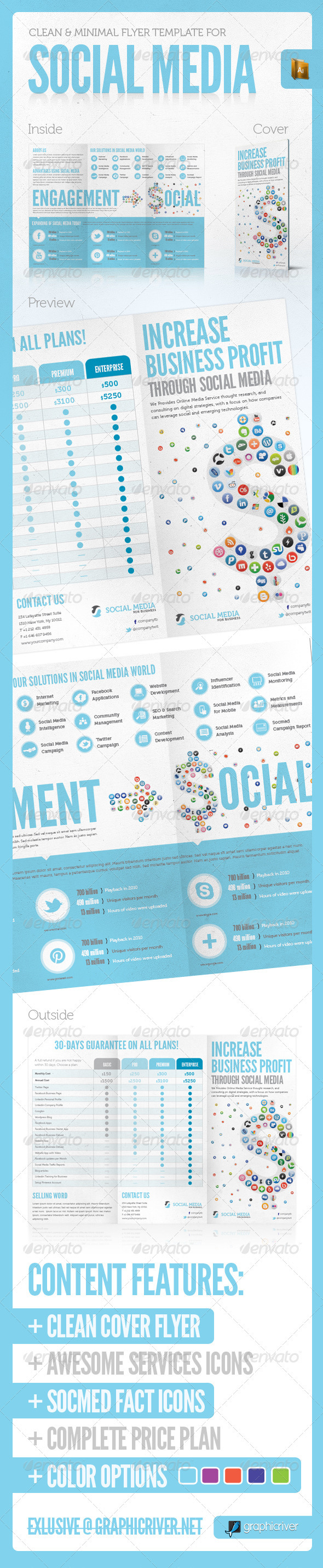 SOCIAL MEDIA PRINT TEMPLATE VOL. 3 - Corporate Brochures