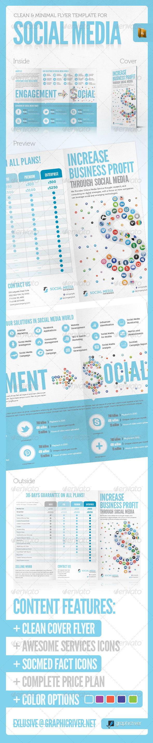 SOCIAL MEDIA PRINT TEMPLATE VOL. 3 - Corporate Brochures