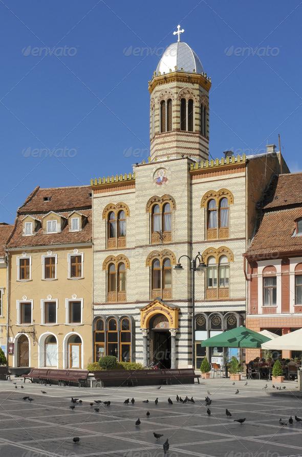 Brasov in romania - Stock Photo - Images