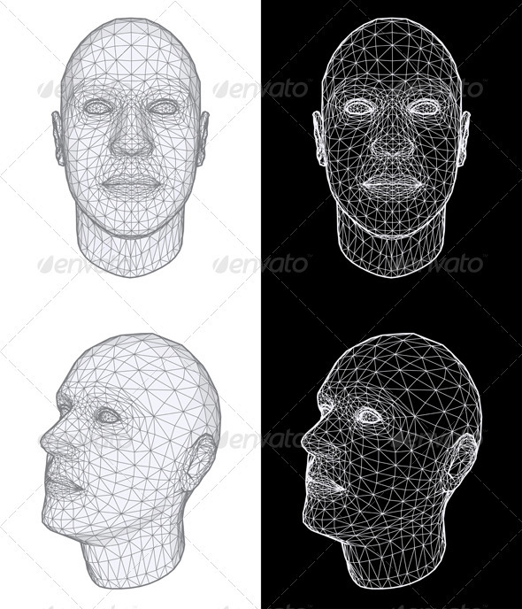 Human Head Vector Illustration