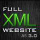 Full XML Website  / AS3 - ActiveDen Item for Sale
