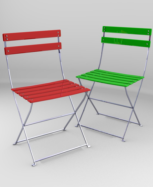 3DOcean Metal and plastic chair 104410