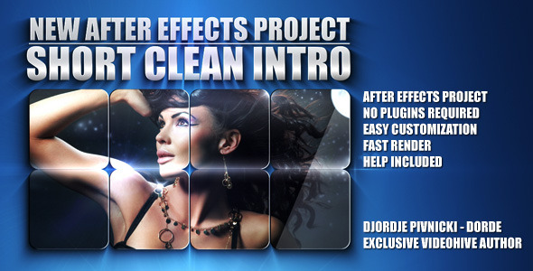 After Effects Project - VideoHive Short Clean Intro 305527