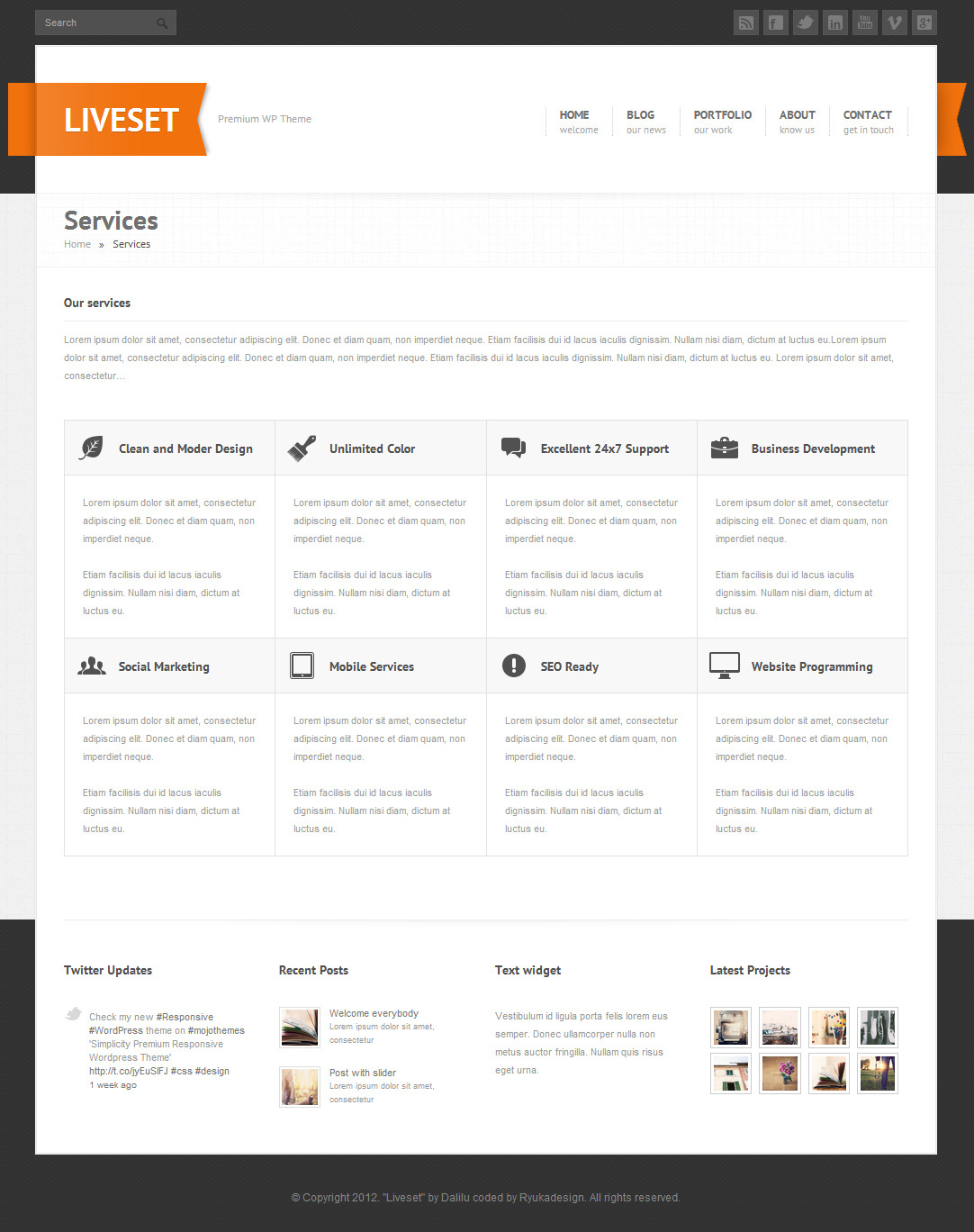 Liveset - Responsive WordPress Theme