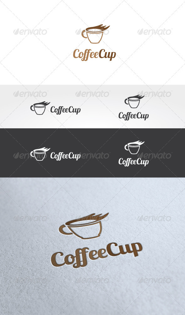 Coffee Cup Logo Template - Food Logo Templates