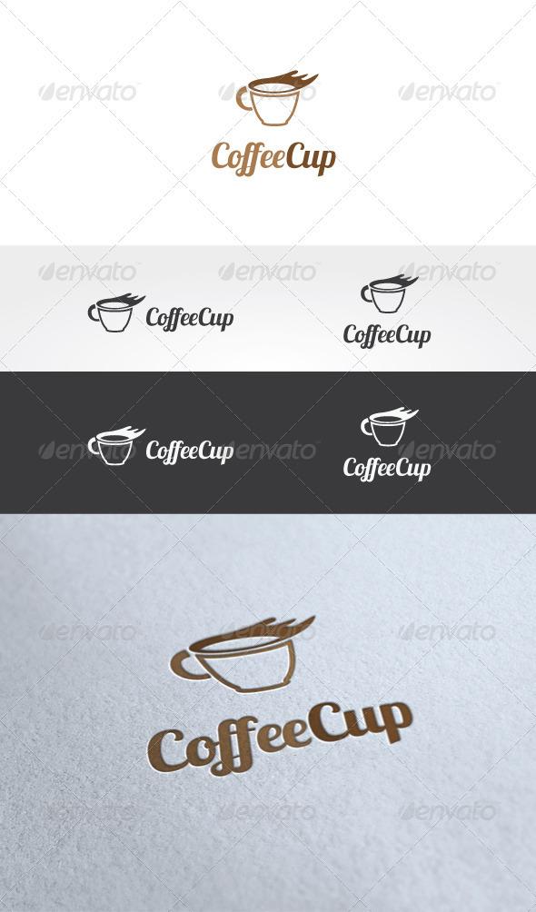 Coffee Cup Logo Template - Food Logo Templates