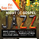 Night of Gospel Jazz Church Concert Flyer Template - GraphicRiver Item for Sale