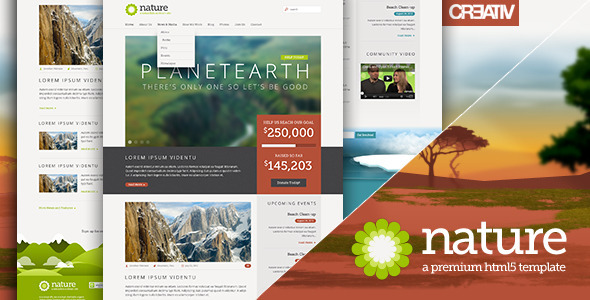ThemeForest Nature Responsive HTML5 Template 2906391