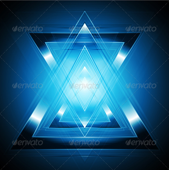 Tech blue backdrop - Backgrounds Decorative