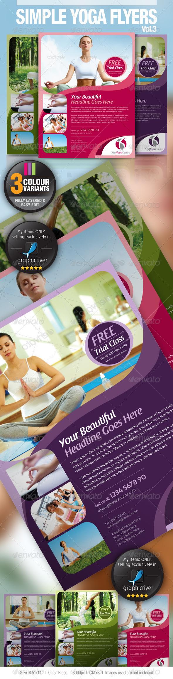 GraphicRiver Simple Yoga Flyer Vol.3 2883586