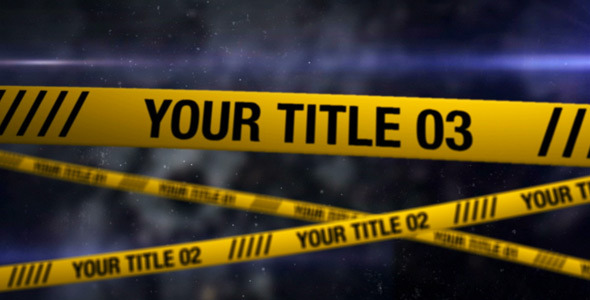 After Effects Project - VideoHive Crime Scene 305539
