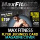 MaX Fitness Flyer & Magazine Cover Template - GraphicRiver Item for Sale