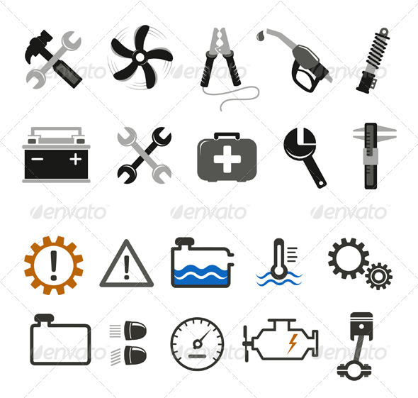 Car Mechanic And Service Tools