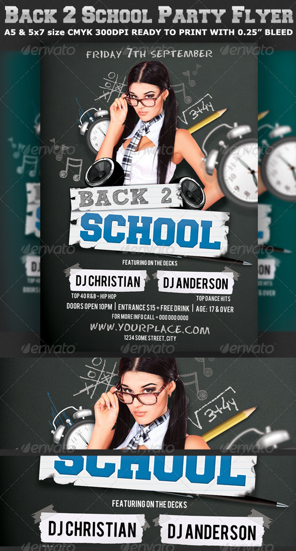 back to school party flyer template v2 graphicriver
