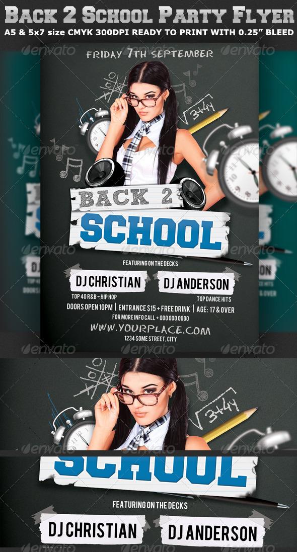back to school party flyer template v2 graphicriver. Black Bedroom Furniture Sets. Home Design Ideas
