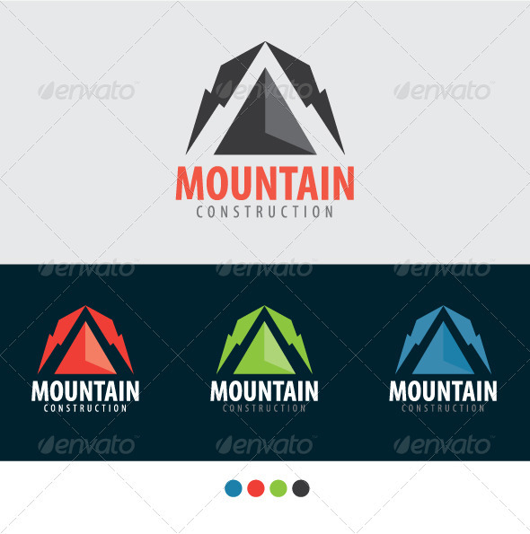 MOUNTAIN CONSTRUCTION - Nature Logo Templates